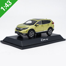 Caixa original 1:43 honda crv suv modelo de liga carro estático metal modelo veículos para collectibles presente