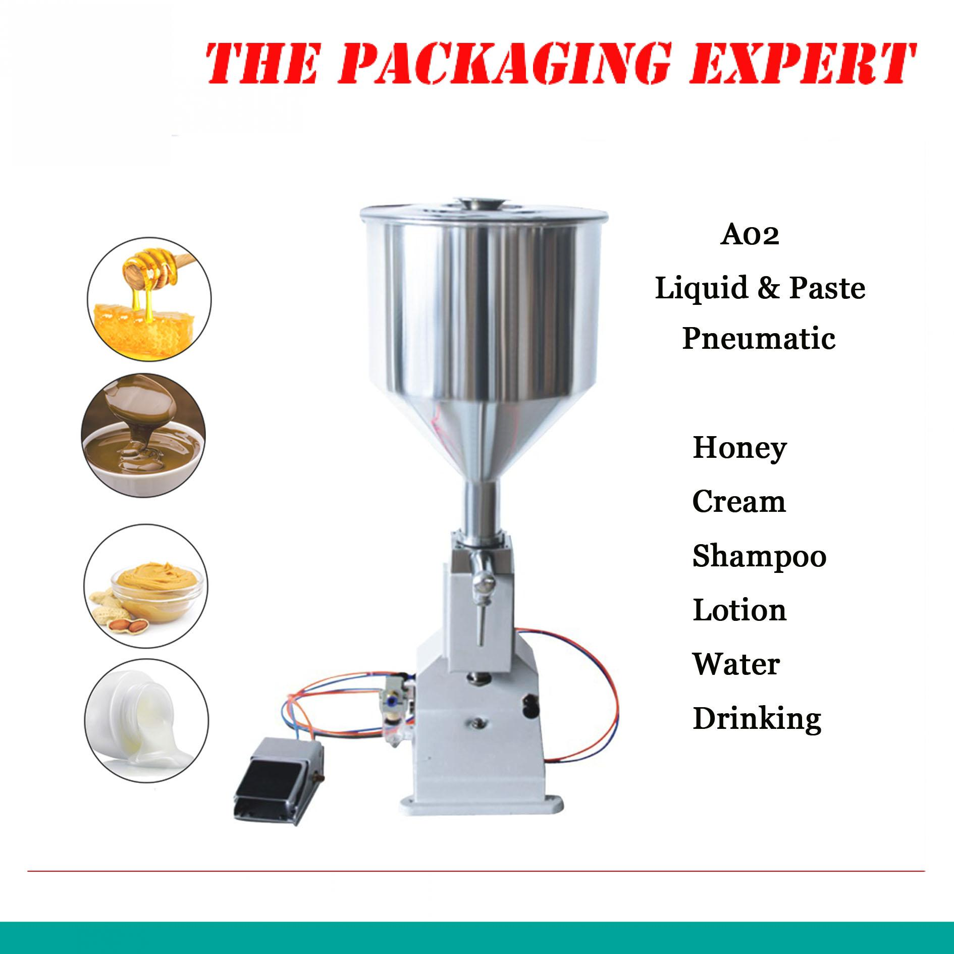Pneumatic Filling Machine 5-50ml Cream Food Paste Dispensing Liquid Packaging Equipment Stainless Steel A02