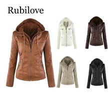 Rubilove Faux Leather Coat Women Jacket 2019 Winter Plus Size 7XL Waterproof Windproof Out Wear Ladies Basic Outwea