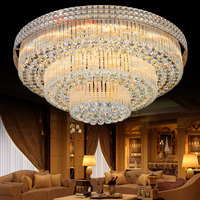 Modern Crystal Ceiling Lights Lamps Luxury Ceiling lamps Golden luminaria deckenleuchte Round Crystal Lighting Home LED Fixture