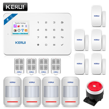 KERUI Alarm System W18 Wireless WiFi GSM Host Security Burglar For House WiFi Alarm Kit Android ios APP Control with PIR sensor