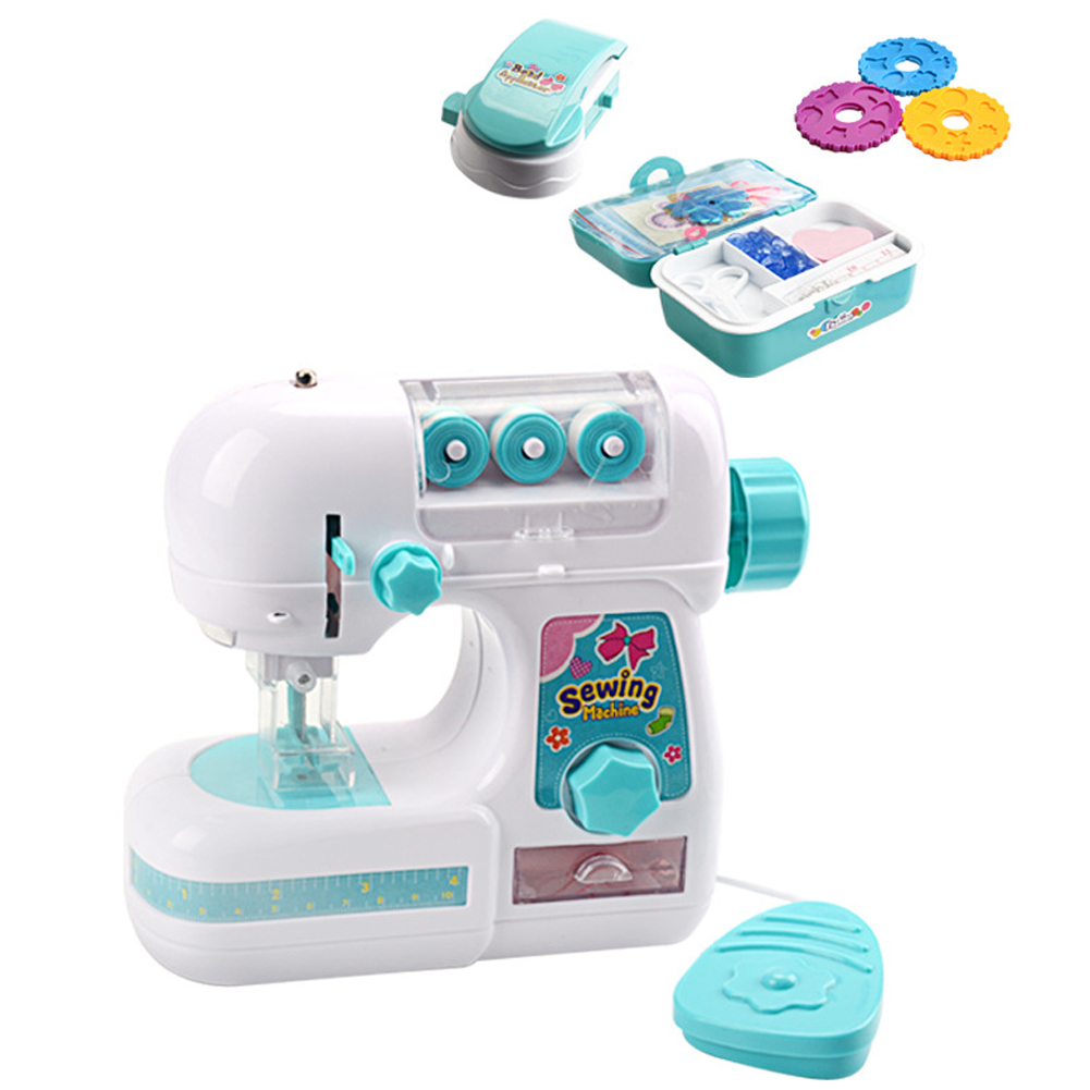 Electric Funny Sewing Machine Party Children Kitchen Cute Educational Mini Gift Kids Play House Toy Simulation Home Appliance