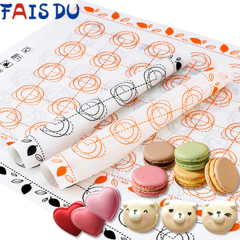 Silicone Baking Mat Fondant Bakeware Macaron Oven Home Non Stick Baking Tools For Cakes Pastry Tools Sheet Dough Roll Mats Pad silicone oven baking mat roll functional baking macaron non stick cake pad swiss roll pad baking tools for cakes silicone mat