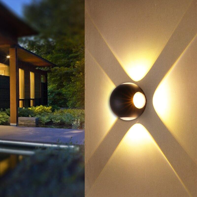 wall led light outdoor wall lamp waterproof aluminum ball shape outside modern facade light corridor courtyard garden wall light