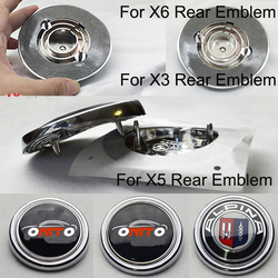 Hot selling 1Pcs For X3 X5 X6 E70 F25 E83 E71 E72 ALPINA AC Car Rear Trunk Emblem Auto Tail Boot Badge Car Emblem Cover