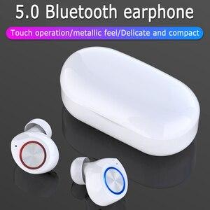 Image 5 - GOOJODOQ wodoodporny TWS 5.0 Mini słuchawki bezprzewodowe sterowanie dotykowe słuchawki Bluetooth słuchawki Bluetooth z podwójny mikrofon