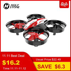 Image 1 - Heilige Steen HS210 Mini RC Drone Speelgoed Headless Drones Mini RC Quadrocopter Quadcopter Dron Een Sleutel Land Auto Zweven Helikopter