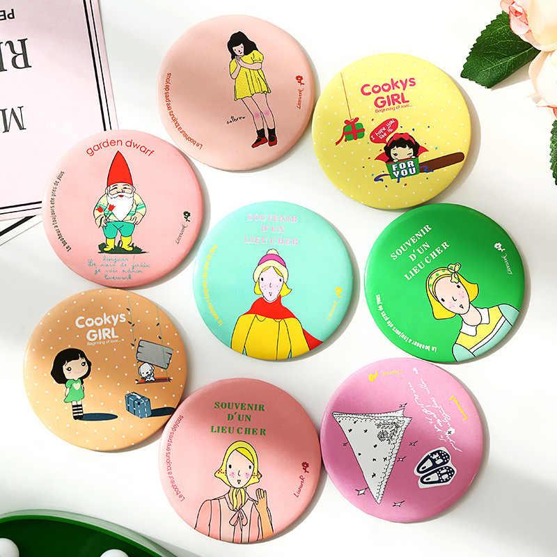 かわいい漫画のキャラクターの女の子ミニ 10 グラムポケット化粧鏡化粧コンパクトミラー espelho デ maquiagem espejos デ bolsillo 1 pc