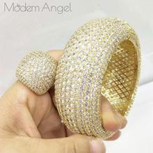 Ring-Set Engagement Brincos Bangle Saudi Wedding Women Luxury Modemangel Big Arabia Trendy