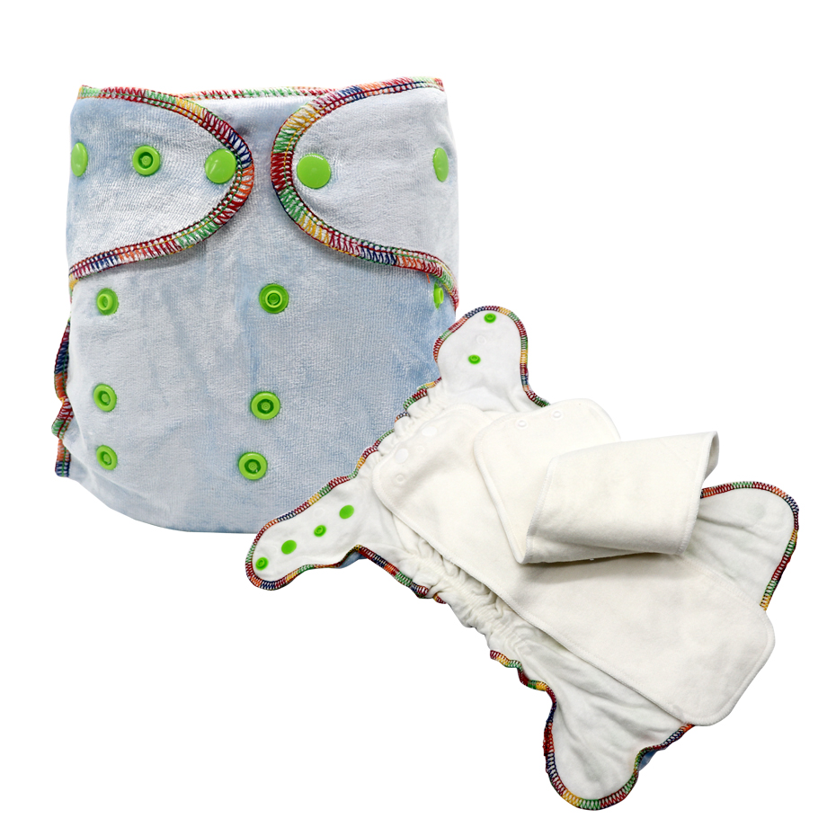 MABOJ Fitted Diaper Cloth Diapers Baby Care Bamboo Cotton Cloth Diapers Snap In One Bebe Washable Nappy Cover Reusable Nappies