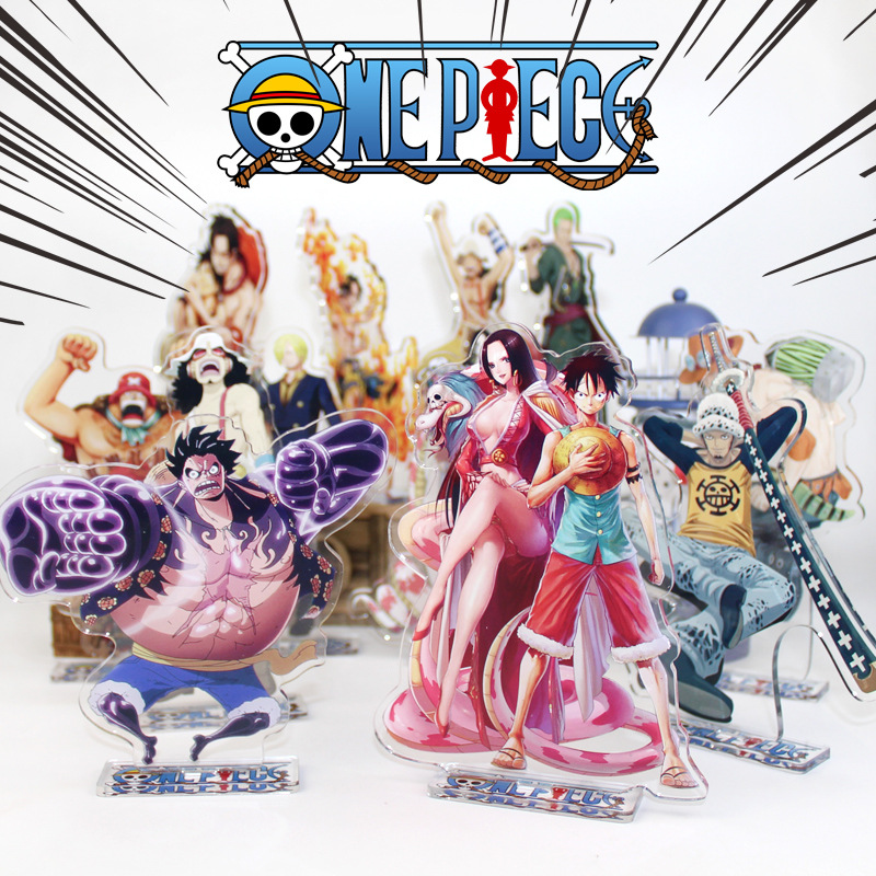 15cm <font><b>One</b></font> <font><b>Piece</b></font> Battle <font><b>Luffy</b></font> Zoro Nami Robin Ace Katakur Charlotte Acrylic Stand Figure Model Double-side Plate Holder Topper image