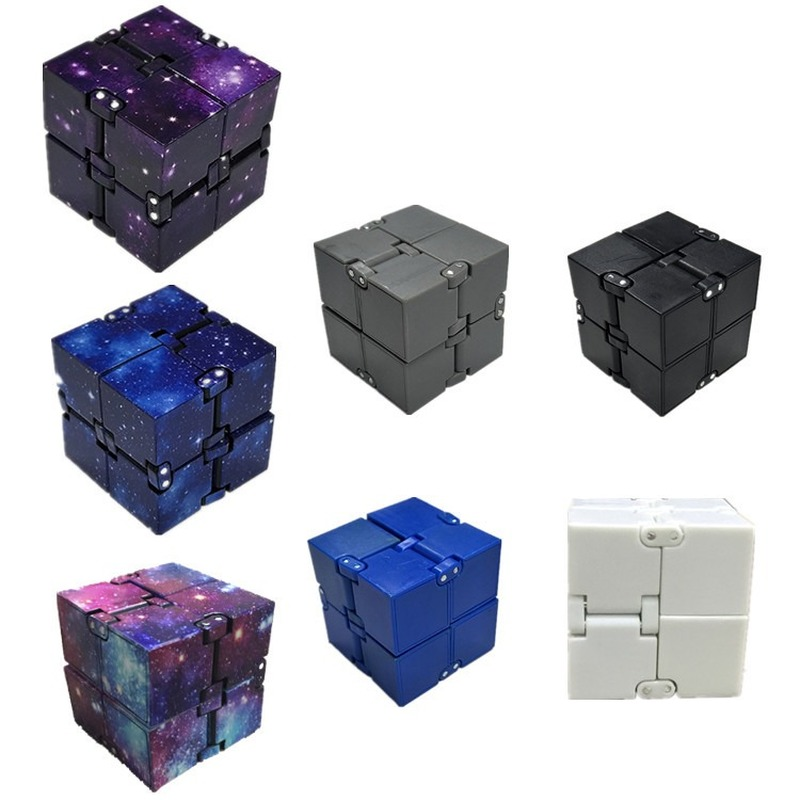 7 Color Creative Infinite Cube Infinity Cube Magic Stress Relief Cube Office Flip Cubic Puzzle Stop Stress Reliever Autism Toys