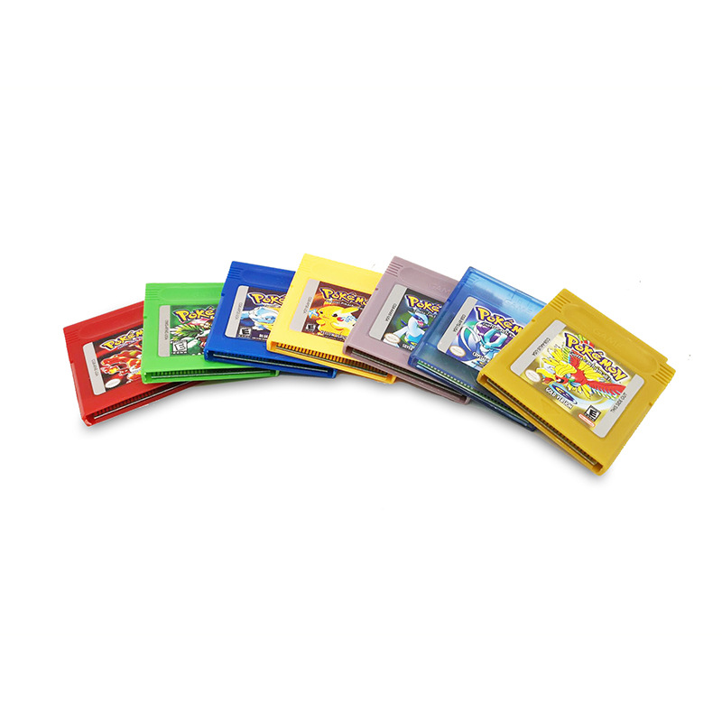 Pokemon GBC Games  Series 16 Bit Video Game Cartridge Console Card Classic Game Collect Colorful Version English Language 2