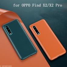 Original couro do plutônio caso de telefone para oppo encontrar x2 ultrafino fino pele protetora oppo encontrar x2 pro findx2 protetor capa