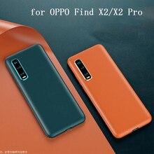 Oryginalny skórzany futerał na telefon PU do OPPO znajdź X2 Case ultracienki Slim skóra ochronna OPPO znajdź X2 Pro FindX2 obudowa ochronna