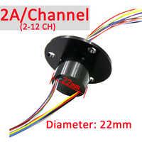 Elettrico Slip Ring 22 Millimetri 2/4/6/8/12/18/24 Canale 2A anello di Scorrimento Giunto Rotante