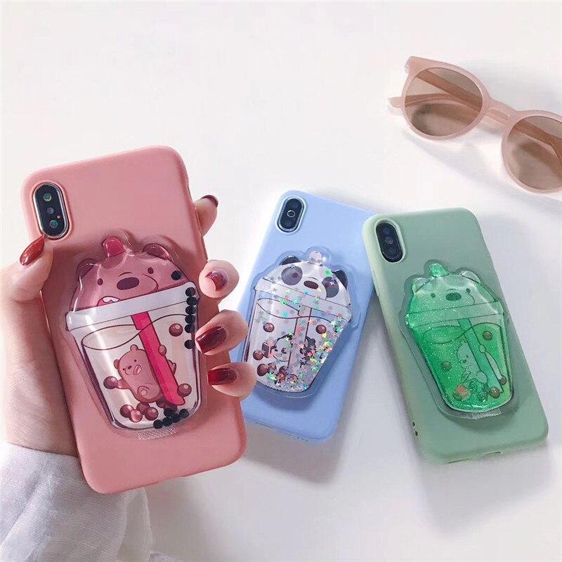 3D Cute Cartoon Glitter Quicksand Phone Case For OPPO F1S Case Cover For OPPO A59 A79 A83 R9 F7 F9 A3S A5 R11 R15 R17 Cases