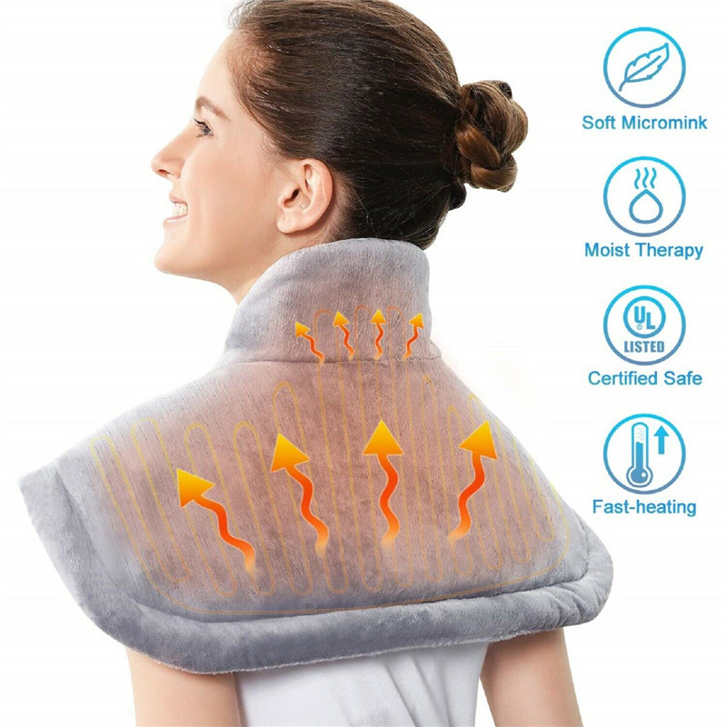 Winter Electric Heating Pad Moist Neck Shoulder Back Warmer Heating Pad Pain Relief Heat Therapy Temperature Controller EU US