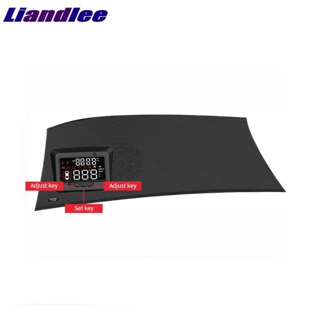 Liandlee carro projetor de velocidade hud head up display para toyota alphard 2018 2019 multi funcional uso especial overspeed aviso