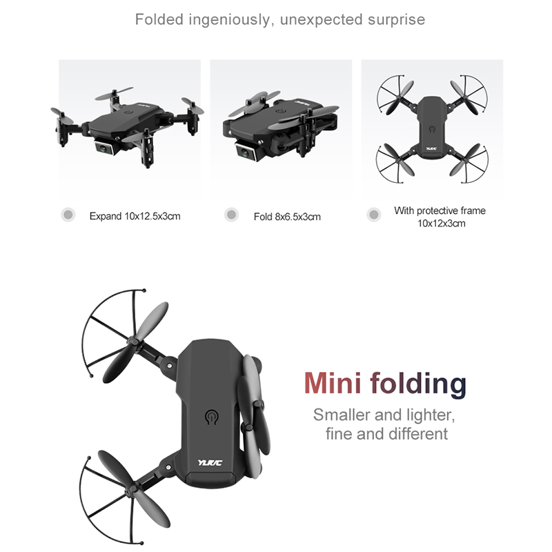 lowest price Luggage Mini Drone Fixed Height Setting 250 Mah Aerial Photography Video Function Shooting In The Distance
