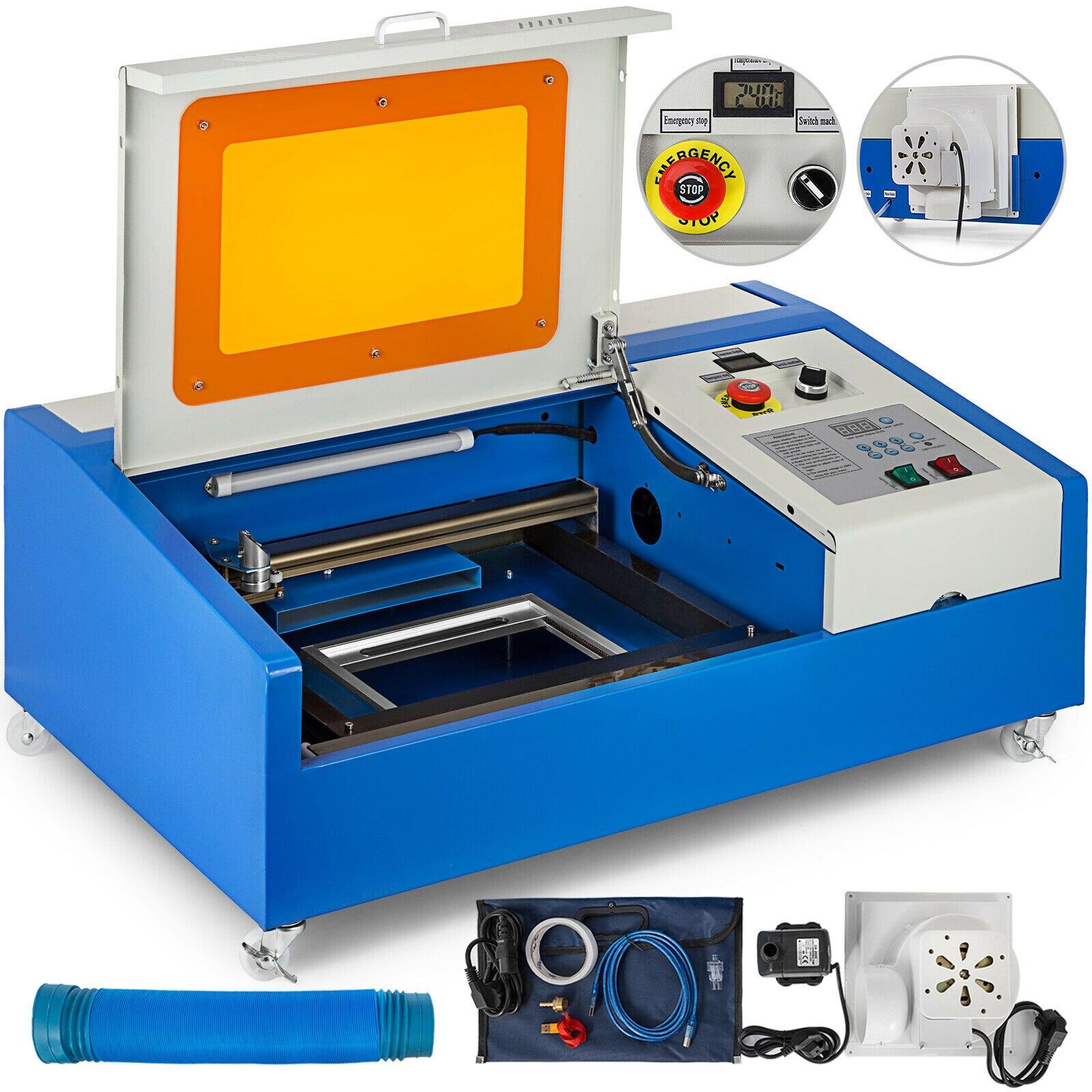 Máquina de gravura do laser do co2 40w porta usb máquina de gravura refrigerar água