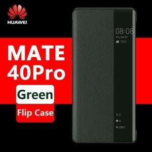 Image 1 - Huawei Mate 40 Pro Case Originele Flip Mate 30 Pro Cover Originele Mate30 Mate40 Pro Case Smart View Window Luxe wake Up