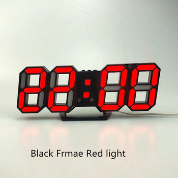 3D LED Wall Clock Modern Design Digital Table Clock Alarm Nightlight Saat reloj de pared Watch For Home Living Room Decoration 14
