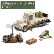 Nowy 266 sztuk wojskowy japonia 180 ciężarówka broń żołnierz pistolety Model klocków budowlanych cegły WW2 figurki zabawki akcji dla chłopców prezenty