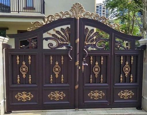 Automatic  Aluminium Accordion Folding Telescopic  Gates Design Expandable Shanghai Doors And Windows