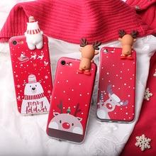 Рождественский чехол в виде Санта-оленя для Nokia 1 3310 Plus 2 2,1 2,2 3 3,1 C 4,2 5 5,1 6,1 6, чехол для мобильного телефона, 3D сумка