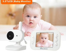 цена на New 3.5'' Digital Wireless Baby Monitor 2 Way Talk LCD Display Video Security Camera Night Vision Temperature Baby Nanny Camera