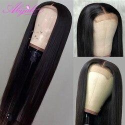 Парик Abijale 13x4 из человеческих волос на сетке спереди, парик с предварительно выщипанной прямой сеткой спереди, парик на сетке 4x4, бразильский...