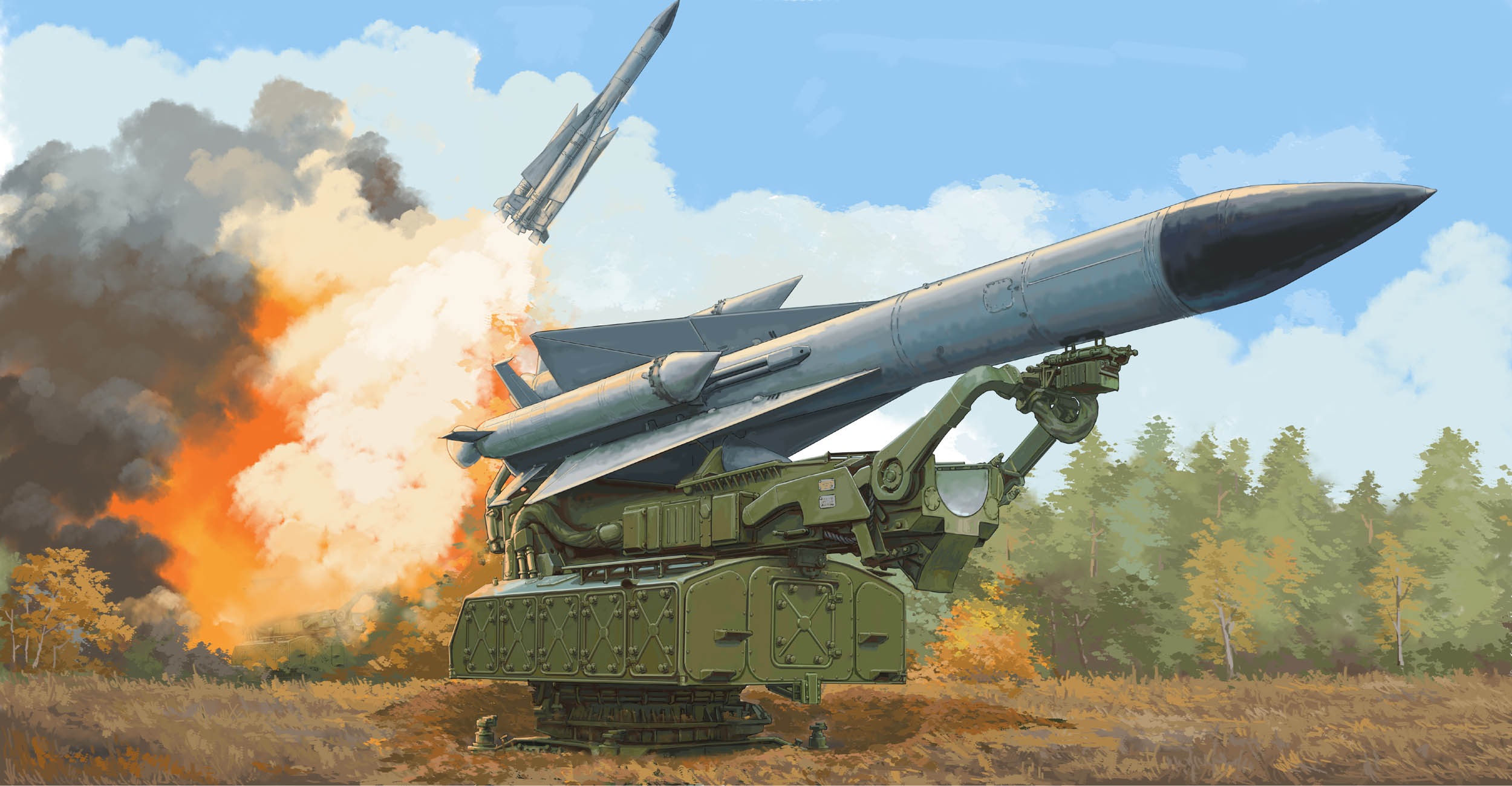 Trumpeter 09550 1/35 Scale Russian 5V28 Of 5P72 Launcher SAM-5 Gammon Assembly