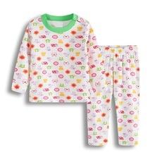 Пижамные костюмы для маленьких девочек; одежда для сна для новорожденных; мягкая хлопковая одежда для сна с героями мультфильмов для младенцев; пижамы для малышей; одежда с длинными рукавами