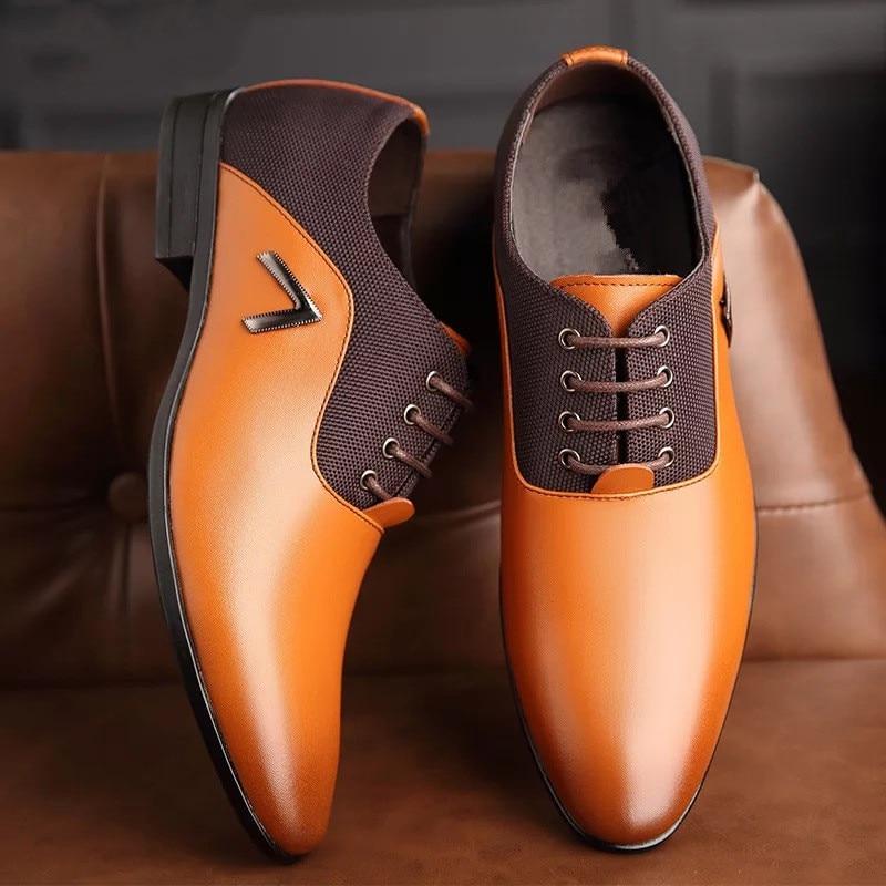 Men Party Dress Shoes cb5feb1b7314637725a2e7: Black|Brown|Yellow