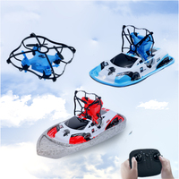 3 in 1 Boat Drone Car Sea Air Land Mode 3 mode Altitude Hold Headless Mode RC Boat Quadcopter Drone RTF