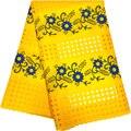 Новейшая швейцарская вуаль кружева в Швейцарии лимонно-зеленая африканская кружевная ткань 2,5 ярдов швейцарская кружевная ткань хлопчатоб...