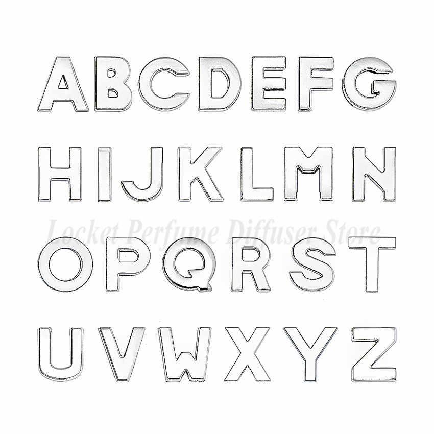 1pc A-Z 10mm kolor srebrny półfabrykaty do wyrobu zwykły litery slajdów Charms Fit DIY bransoletka nadgarstek obroża dla zwierząt domowych dla kobiet boże narodzenie prezenty