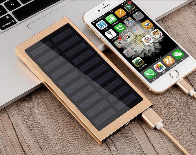 Hot Solar Power Bank Waterproof 30000mAh Solar Charger 2 USB Ports External Charger Powerbank for Xiaomi