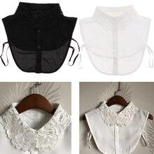 Womens Blouse Chiffon False Collar Shirt Detachable Collars 31x33cm
