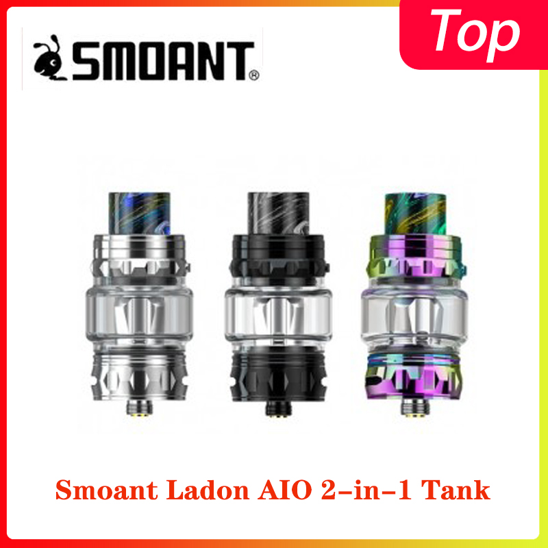 Smoant Ladon AIO 2-in-1 Tank With 4.0ml/6.0ml Capacity &0.15ohm Dual Mesh Coil And 0.16ohm Mesh Coil