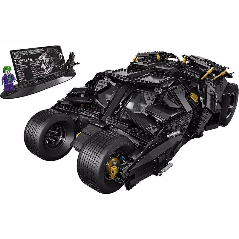 1969Pcs Super Herose Building Blocks 07060 Compatible 76023 Batmobile The Tumbler Christmas Gift Bricks Toys