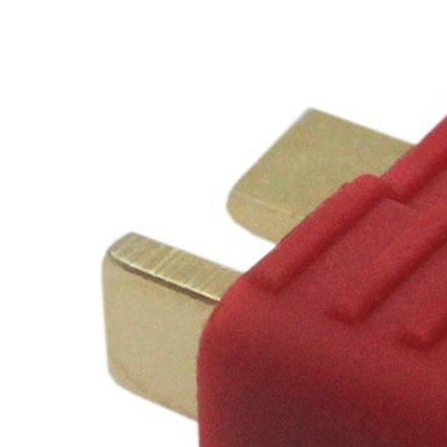 10 pcs New T-Plug Non-slip Connector Male Deans For Deans RC Lipo Battery Helicopter 100A Gold plated Deans 2