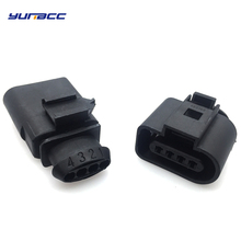 цена на 2sets 4Pin way 1.5mm male female Auto sensor plug waterproof Electrical Wire connector for VW car truck 1J0973804 1J0973704