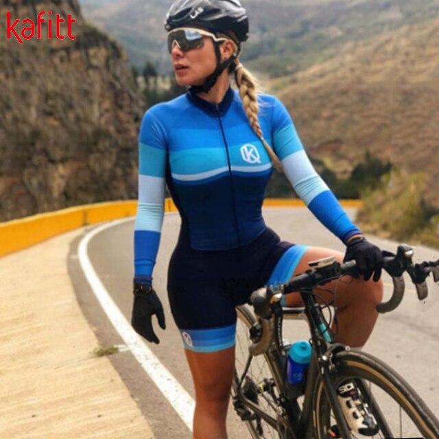 2020 pro equipe triathlon manga longa camisa de ciclismo terno senhoras jérsei macacão bicicleta almofada gel 4
