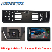 European 180° HD Vehicle Camera Car Number License Plate Frame Rear View Camera Night Vision Reverse Backup Parking Rearview Cam parkvision 180 degrees wide angel universal front reverse rearview backup rear view camera multi view image for car vehicle suv