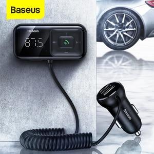 Image 1 - Baseus Fm Modulator Zender Bluetooth 5.0 Fm Radio 3.1A Usb Car Charger Handsfree Car Kit Wireless Aux Audio Fm Zender
