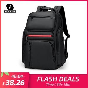 Image 1 - Fenruien Fashion Business Large Capacity Laptop Backpack Men Multi Function USB Charging Travel Backpack School Bag for Teenager