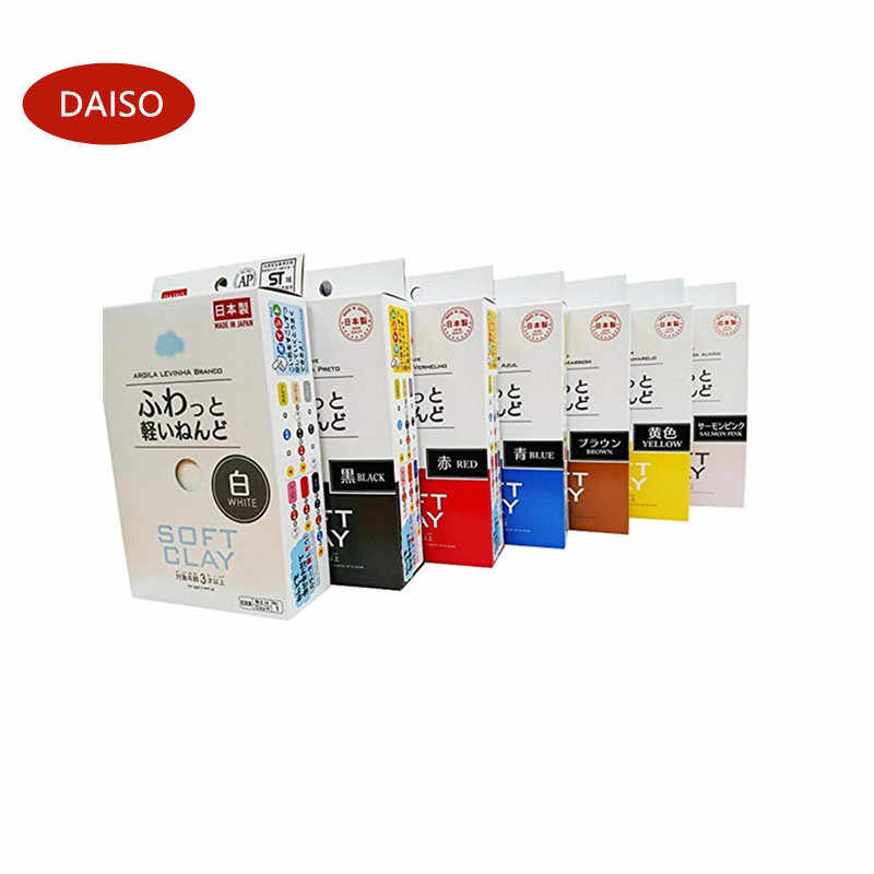 Daiso Japan Soft Clay 8 colors Lightweight Modeling Air Dry Ultralight Clay kid polymer clay fluffy supplies polymer clay molds#
