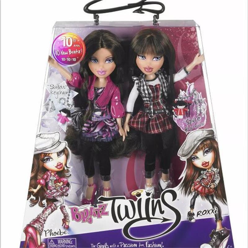 Original Boxed Twins Bratz Doll Dress Up Doll Best Gift For Girl Long Hair DIY Dream Toys For Children